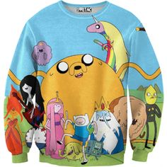 Adventure Time Blue Sweater - this would complete my life.