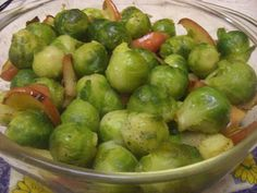 Maple Glazed Brussels Sprouts W/ Apples & Onions