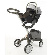 Nuna PIPA Infant Car Seat + Stokke Xplory Stroller in Black Melange