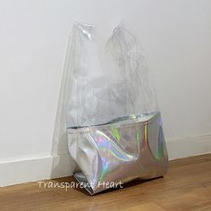Holographic PU Transparent PVC Tote Bag by TransparentHeart, $39.99