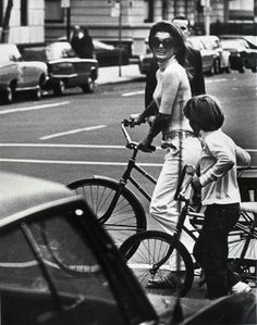 Jackie O with her son John in New York City