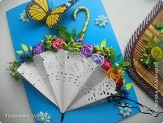 Easy Valentines Crafts for Kids to Make - Paper Flower Bouquet Paper Doily Crafts, Doilies Crafts, Paper Doilies, Flower Crafts, Valentine Crafts For Kids, Mothers Day Crafts, Easter Crafts, Umbrella Cards, Mini Umbrella