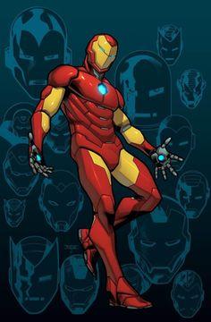 Iron Man #1 Newbury Comics Variant Cover - Mahmud Asrar, Colours - Dave McCaig