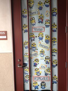 Beginning of the year door decoration. These minions were