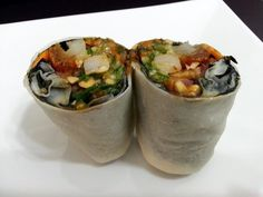 """LG CHINESE BURRITO ( POPIAH ROLL )! """"MY VERSION ~  ~ STEAM SPRING ROLL ~ BURRITO ASIAN STYLE ~  ~ LOVING IT""""  @allthecooks #recipe #chinese #burrito #easy"""