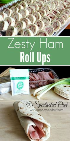 Zesty Ham Roll Ups - These Zesty Ham Roll Ups are the perfect appetizer and are a great addition to your holiday menu, for your next party or to whip together for Sunday football. It's a super easy recipe to throw together when unexpected company comes ov Appetizers For Party, Appetizer Recipes, Snack Recipes, Delicious Recipes, Sandwich Recipes, Easy Recipes, Appetizer Ideas, Wrap Recipes, Yummy Appetizers