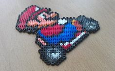 Mario Kart Sprite Magnets from Super Mario by PixelBeadPictures, £3.00