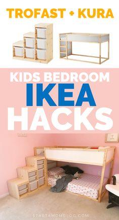 IKEA Hacks Kids Bedroom ⭐⭐⭐⭐⭐ IKEA Hacks for kids bedroom & trofast and kura IKEA hack for kids. The post IKEA Hacks Kids Bedroom appeared first on Pink Unicorn. Ikea Hack Kids Bedroom, Bedroom Hacks, Ikea Bedroom, Bedroom Kids, Ikea Nursery, Cama Ikea, Ikea Kura Bed, Kura Bed Hack, Ikea Kura Hack