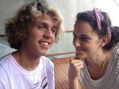 Theo e Ana  Filhos de Pedro Bial
