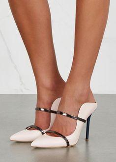 Malone Souliers Maureen blush leather mules | Buy ➜ https://shoespost.com/malone-souliers-maureen-blush-leather-mules/