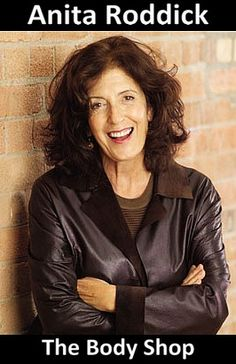 Dame Anita Roddick, DBE (23 October 1942 – 10 September 2007) was a British businesswoman, human rights activist and environmental campaigner, best known as the founder of The Body Shop, a cosmetics company producing and retailing beauty products that shaped ethical consumerism (Wikipedia)