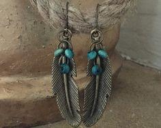 Boho Dream Catcher earrings hippie earrings by Estibela on Etsy
