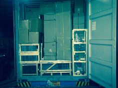 Containers packed to the MAX! Can just close the doors.. Bon voyage X