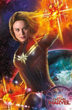 Poster A2 Capitana Marvel Capitain Marvel Pelicula Film Cartel Decor 02