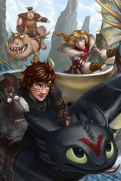 A dragon race scene from the Dreamworks movie, How to Train Your Dragon Dragon 2, Toothless Dragon, Hiccup And Toothless, Hiccup And Astrid, Dragon Rider, Toothless Costume, Dragon Party, Httyd Dragons, Dreamworks Dragons