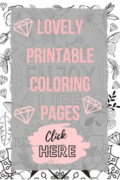 Printable Coloring Pages, Adult Coloring Pages, Coloring Sheets, Beautiful Notes, You Are Beautiful, Handmade Market, What Is Your Name, Etsy Business, Handmade Accessories