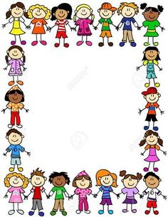 Frame Border Kids Stock Photos And Images Picture Borders, Page Borders, Kids Cartoon Characters, Cartoon Kids, Borders For Paper, Borders And Frames, School Border, School Frame, School Clipart