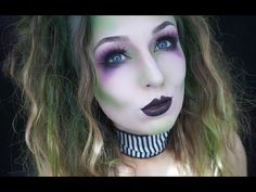 E11: Glam Beetlejuice Halloween Makeup Tutorial - YouTube