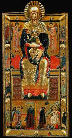 Coppo di Marcovaldo (attribuita) - Madonna col Bambino - dipinto-reliquiario - 1250-60 - chiesa di Santa Maria Maggiore di Firenze.