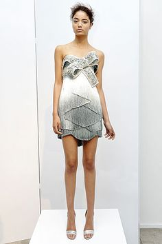 Fringe or Feather Short Dress by Marchesa