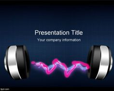 Radio Music PowerPoint template is a free music PowerPoint template with a waveform effect created in Photoshop and using a headset for your slides
