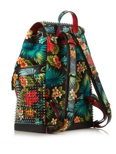 Explorafunk Hawaiian floral-print backpack | Christian Louboutin | MATCHESFASHION.COM US