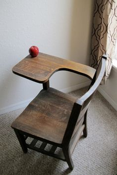 Vintage School Desk I Have This And Want To Refinish Antique