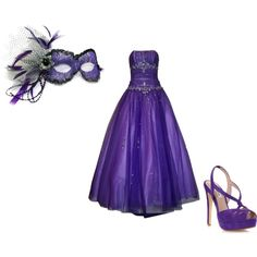 """""""Masquerade Ball: Purple"""" by kelsy-flanders on Polyvore"""