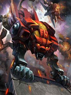 Predacon Rampage Artwork From Transformers Legends Game