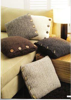 Bare kanskje i andre farger, men hey, så enkelt kan det jo egentlig gjøres. Crochet Home, Crochet Crafts, Yarn Crafts, Knit Crochet, Crochet Summer, Arm Knitting, Knitting Patterns, Crochet Patterns, Knitting Needles