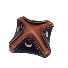 Ear Bud Holder Coin Purse Black and Brown от ChiqueFabrique