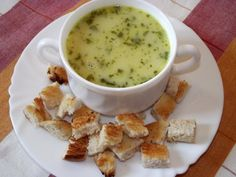 Warming cream of garlic soup - great for a cold winter's day!