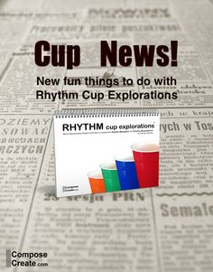 New things to do with Rhythm Cup Explorations including glow in the dark cups, stomp routines, music, and more! Music Ed, Music Games, Piano Lessons, Music Lessons, Cup Games, Rhythm Games, Piano Teaching, Music Theory, Choir