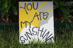 You Are My Sunshine Acrylic Painting via Etsy