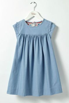 Girls Pretty Floral Lined Cord Dress | Boden