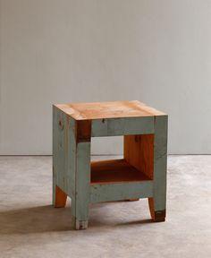 end grain side table