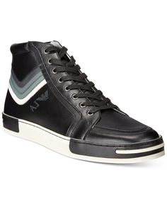 Armani Jeans Aviator Hi-Top Sneakers