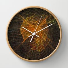 Gold Netting Wall Clock by Lynn Bolt - $30.00