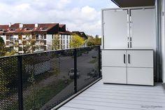 gartenschrank balkonschrank sideboard regensicher terrassenschrank balkonschrank. Black Bedroom Furniture Sets. Home Design Ideas