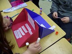 Foldables: vocabulary Battle Ship. One side vocabulary words and the other definitions, antonyms, or synonyms.