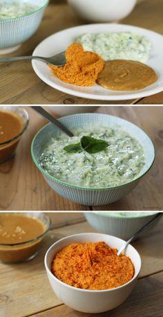 Zelfgemaakte dip sauzen bij het gourmetten