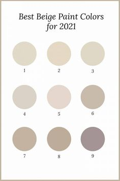 Beige is back! Find out the best beige paint colors from all of the major paint companies like Benjamin Moore, Sherwin Williams and Behr. They're all part of the 2021 paint color trends so you know they're modern and contemporary. | Home Decor Trends Beige Paint Colors, Bedroom Paint Colors, Interior Paint Colors, Paint Colors For Home, Living Room Colors, Wall Colors, House Colors, Beige Color, Interior Design