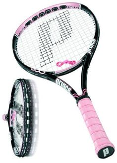 Prince for the Princess who likes her gear in pink! Prince Hybrid Tennis Racket. Pink. Like.