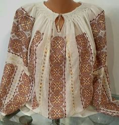 Costumes, Romania, Blouse, Long Sleeve, Sleeves, Folk, Traditional, Women, Fashion
