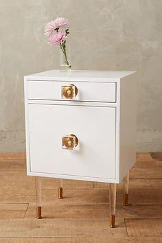 Lacquered Regency Nightstand - anthropologie.com