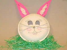 Easter Crafts for Kids -easy paper plate bunny!