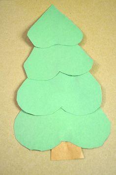 heart christmas tree craft
