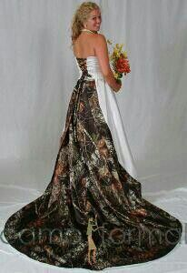 Beautiful camouflage wedding dress