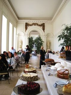 afternoon tea at the Orangery, Kensington Palace, London