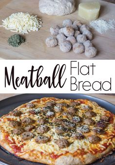 Not only is this meatball flat bread super easy to make (great for weeknight dinners!) your family will actually be begging you to make it again! The garlicy sauce and the meatballs are the perfect combination!